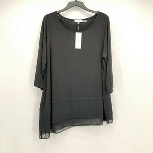 Calvin Klein  0X Solid Black Slik Top L2-08